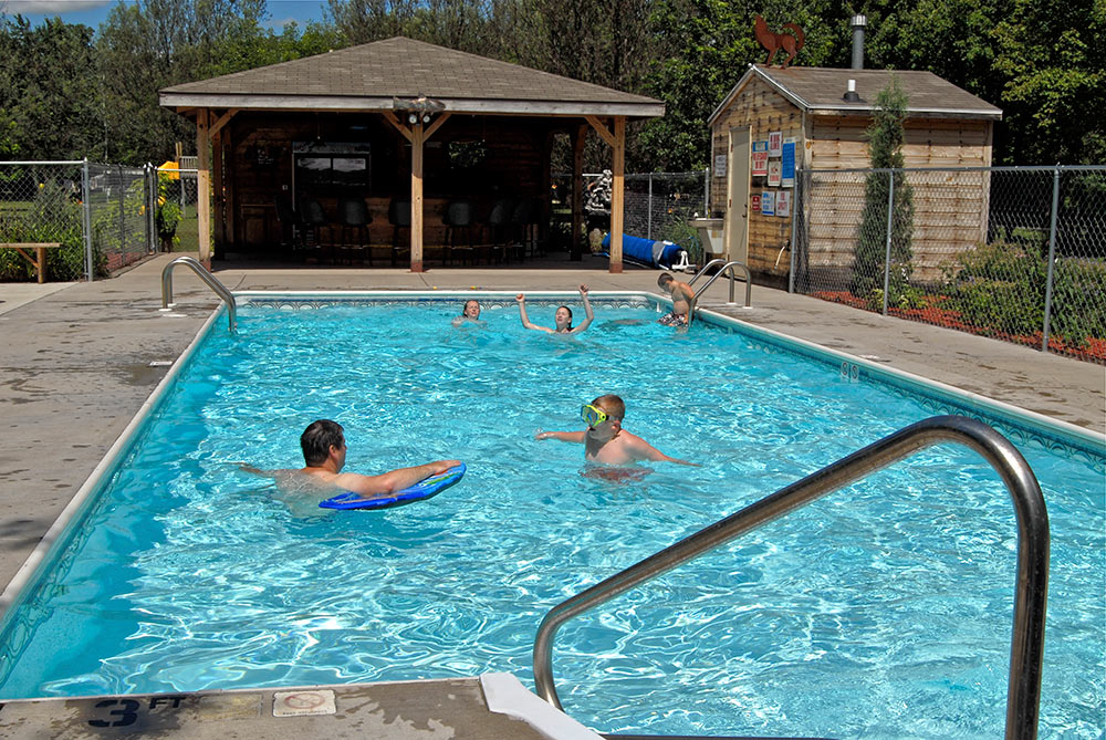 Amenities bass lake campground camping in wisconsin dells - Camping near me with swimming pool ...