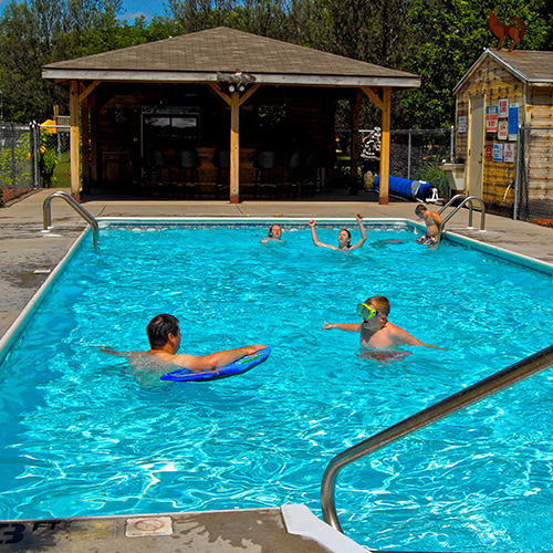 Bass lake campground family camping near wisconsin dells - Camping with swimming pool near me ...