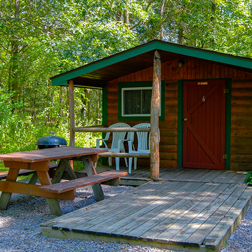Bass lake campground family camping near wisconsin dells Campground cabin rentals